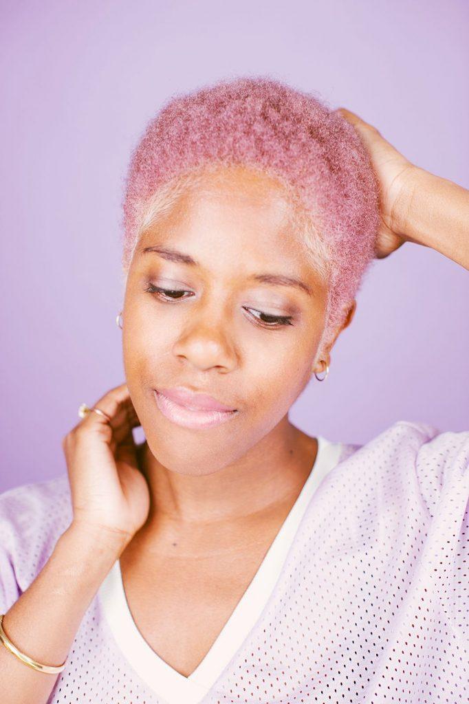pastel hair colour for black women summer