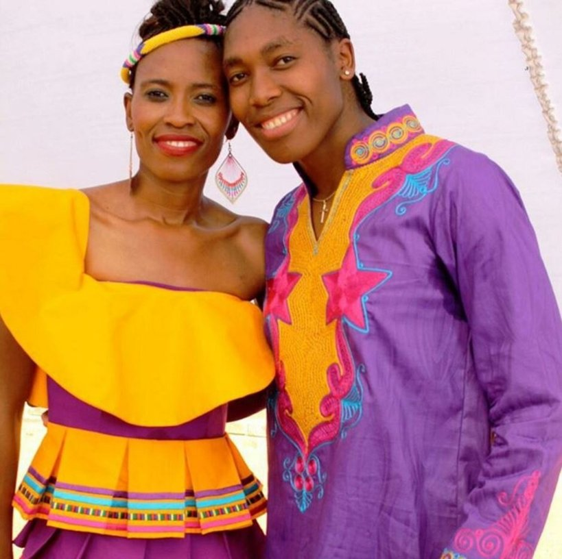 What to wear to a traditional African wedding, caster semenya wedding, caster and her wife
