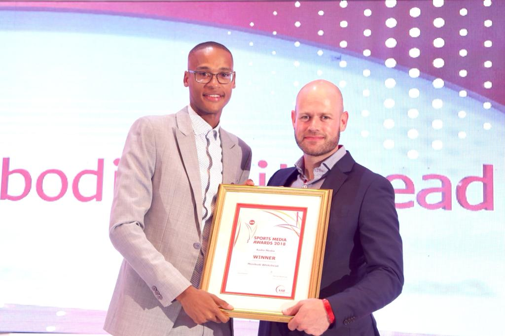 mosibodi whitehead, sab sports media awards, kaya fm sport,