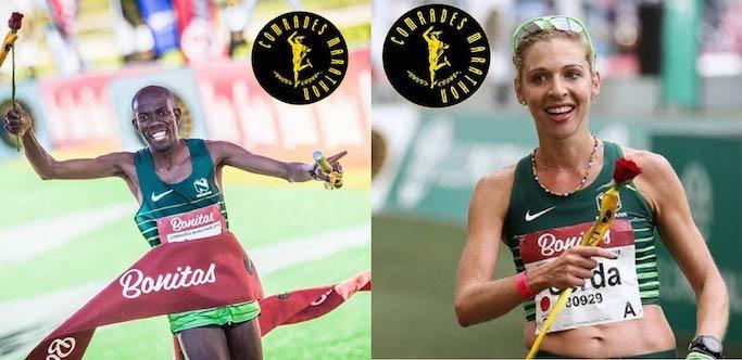 Comrades Marathon winners Edward Mothibi and Gerda Steyn on their wins