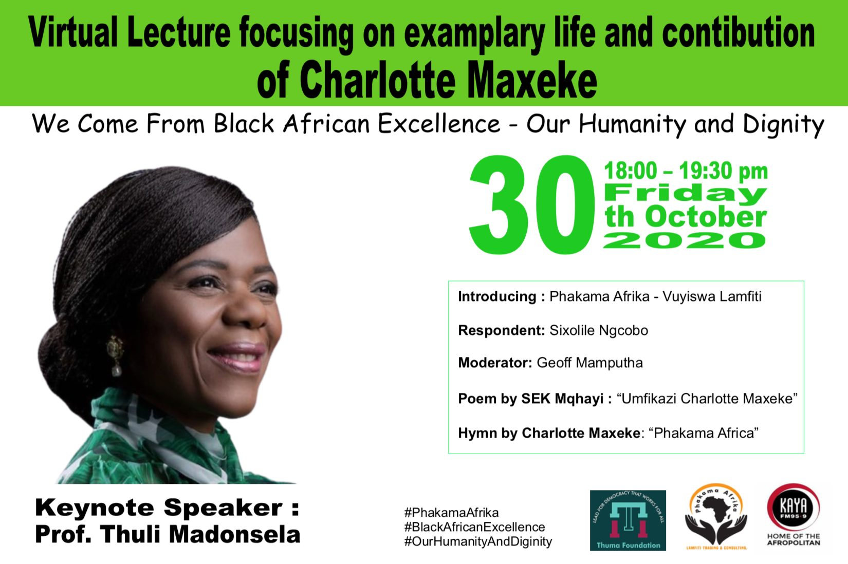 Phakama Africa #BlackExcellence Webinar