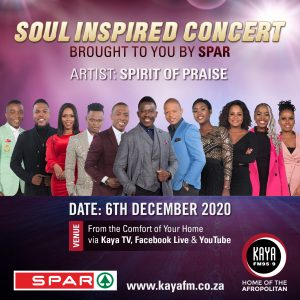 RSVP for Soul Inspired and stand a chance to win a SPAR voucher