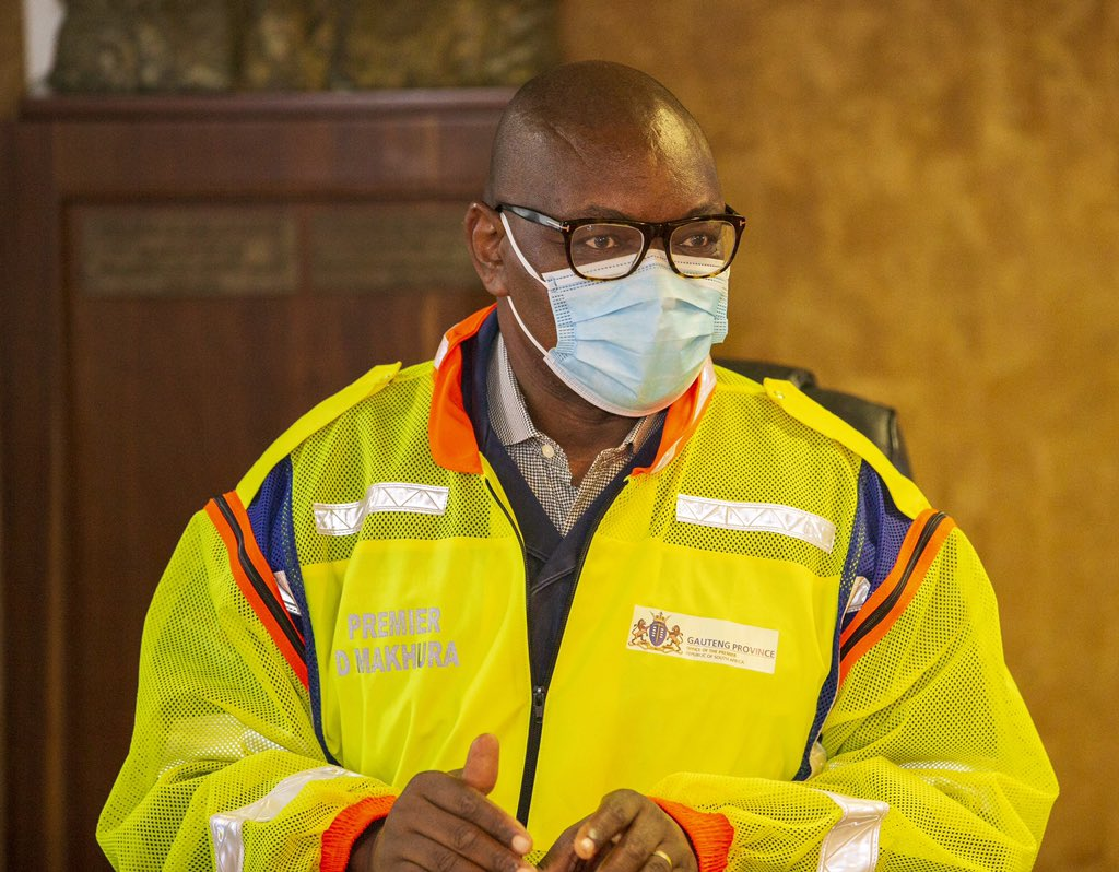 Premier David Makhura inspects Charlotte Maxeke Hospital following a fire incident