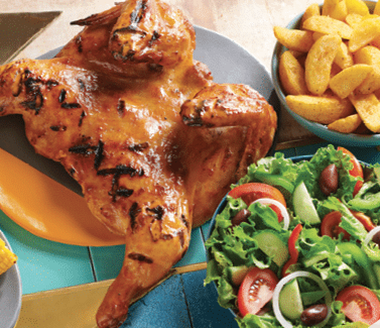 You can now get your favourite 1/4 chicken, chips and roll on credit