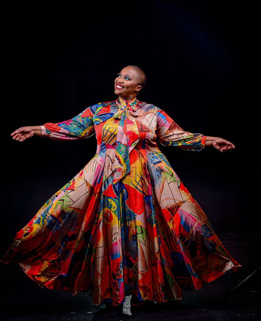 South African women honour Dr. Sindi and wear her signature look, a dress with pockets